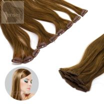 Clip In Extensions Echthaar 5-teilig #08 Goldbraun
