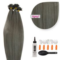 Bonding Keratin Extensions, 0,5g, #007/dunkelgrau - Dark grey/Dunkelgrau