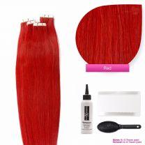 Tape In Extensions Echthaar Haarverlängerung #Rot