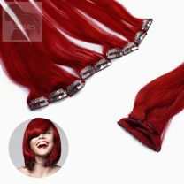 Clip In Extensions Echthaar 5-teilig #red Rot