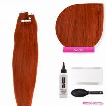 Tape In Extensions Echthaar Haarverlängerung #350 Kupfer 50cm