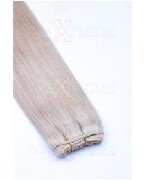 Echthaar Tressen - Weft Extensions #24 Blond
