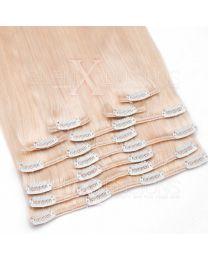 Clip In Extensions 100 Gramm glatt Remy Echthaar Farbnummer #24 Blond
