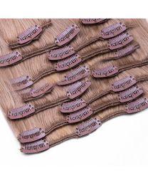Clip In Extensions 100 Gramm glatt Remy Echthaar Farbnummer #18/613 Dunkelblond/Helllichtblond