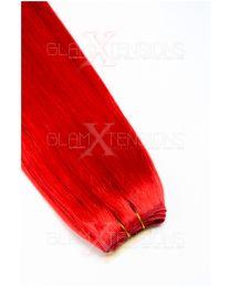 Echthaar Tressen - Weft Extensions #red Rot