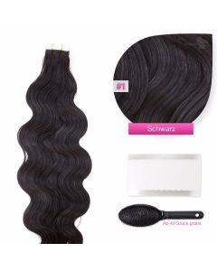 Tape On Extensions gewellt 50-60cm