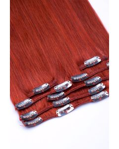 Clip In Extensions 7-teilig 100g #350 - Kupfer