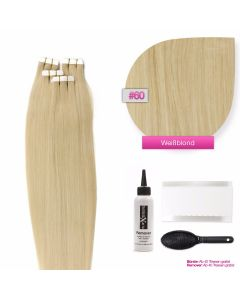 Tape On Extensions, #60 Weißblond