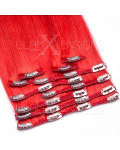 Clip In Extensions 100 Gramm glatt Remy Echthaar Farbnummer #613 Helllichtblond