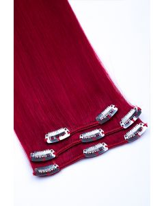 Clip In Extensions 3-teilig #darkred - Dunkelrot