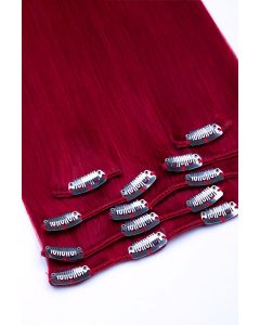 Clip In Extensions 7-teilig 100g #darkred - Dunkelrot
