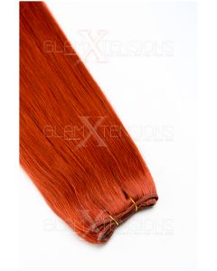 Echthaar Tressen - Weft Extensions #350 Kupfer