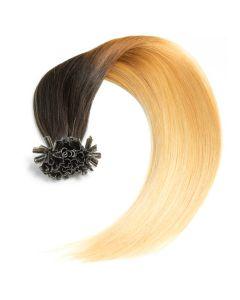 Bonding Keratin Extensions, 0,5g, #1b/24 - Ombre Naturschwarz/Blond