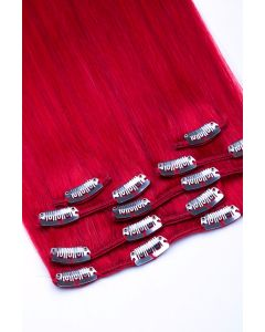Clip In Extensions 7-teilig 100g #red- Rot