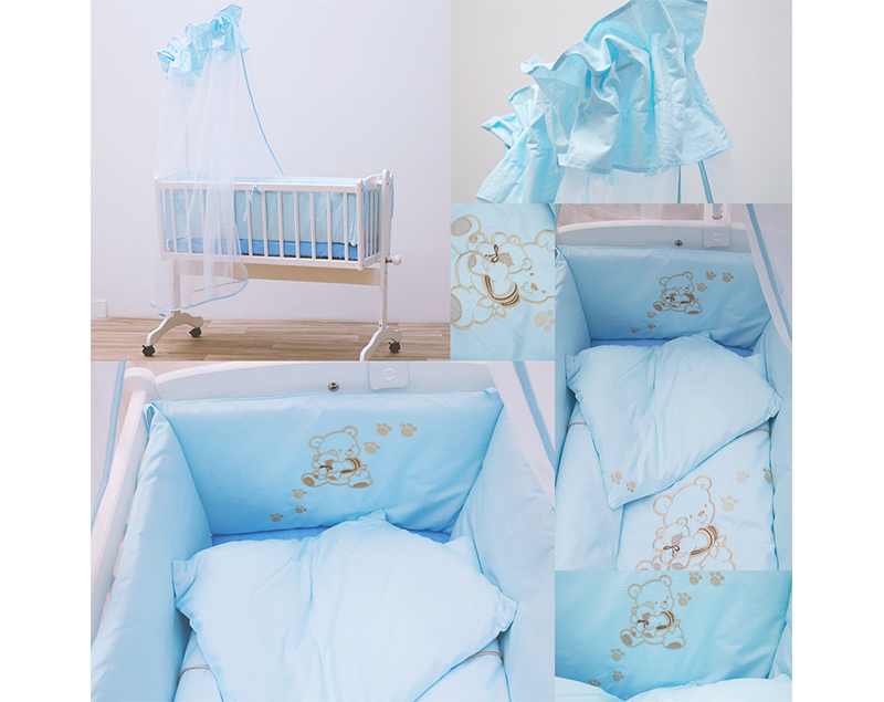 sale abverkauf babybettw sche f r babywiege schaukelwiege babybett baby set ebay. Black Bedroom Furniture Sets. Home Design Ideas